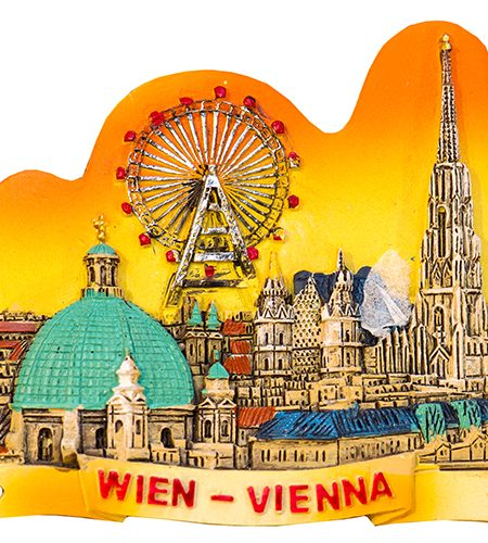 Premium Panorama Wien mit Prater - Sonnenuntergang