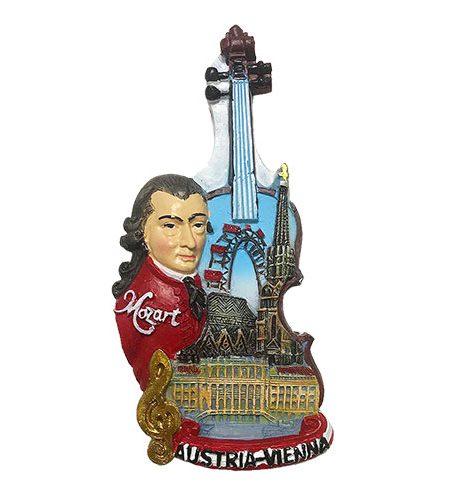 Austria Vienna Magnet mit Mozart-Geigen Muster