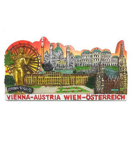 Wien Souvenir-Magnet mit Sehenswürdigen